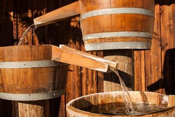 Water Barrel Releases Water