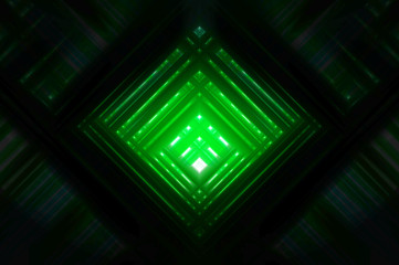 Abstract green background with ornament