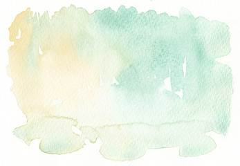 light tones faded yellow green watercolor background