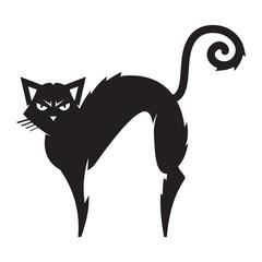 Black Cat vector cartoon