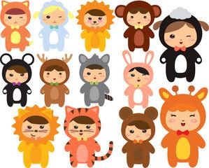 Animals Kawaii kids -fo172