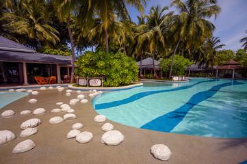 Maldivian resort pool side
