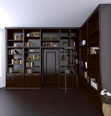 3d rendering. Classical Reading room