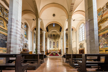 Church interior at Assisi, Italy