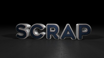 Scrap, 3D Typography