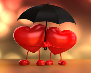 Dois corações se amando