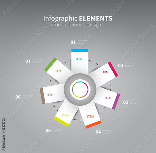Infographics element flower vector infographics paper shapes with infographics element flower vector infographics paper shapes with options statistics business diagram ccuart Gallery