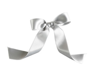 Shiny bow, isolated on white