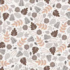 Leaves. Seamless background.