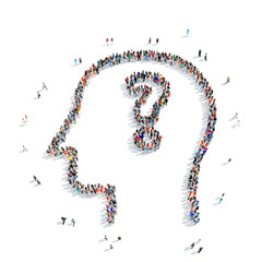people  shape  human head question mark