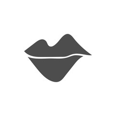 Lips icon in a flat design