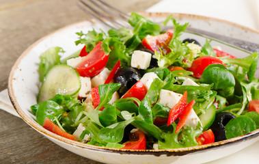 Fresh healthy vegetable salad.