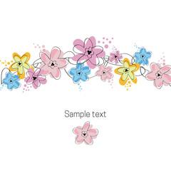 Floral illustration greeting card