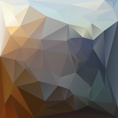 Polygonal mosaic background in blue and brown colors.