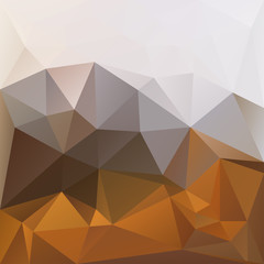 Polygonal mosaic background in brown and white colors.