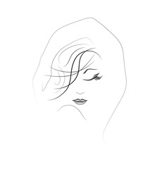 silhouette of a woman with beautiful make-up