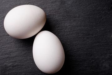 Eggs on a blackboard