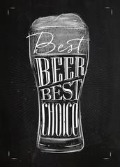 Poster best beer chalk