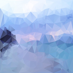 Polygonal mosaic abstract geometry background landckape in blue