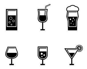 six glasses icons