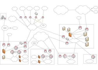 Netzwerk VLAN WLAN Diagramm Illustration