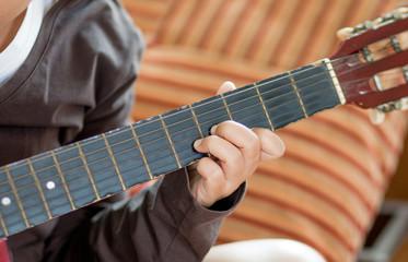 guitarist playing classic guitar