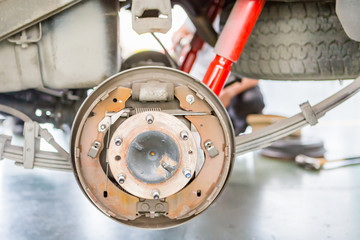 Repair Brake disk and detail of the wheel assembly