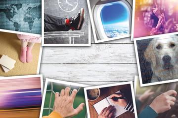 Urban youth lifestyle photo collage
