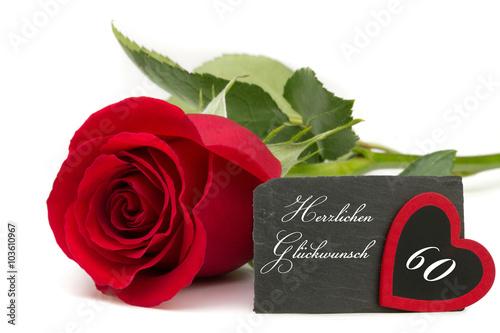 Rote rose mit schiefertafel jubil um 60 jahre stockfotos - Geburtstagsbilder zum 25 ...