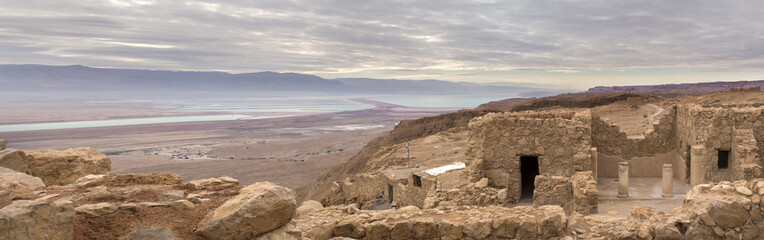 Mazada old palace and dead sea valley