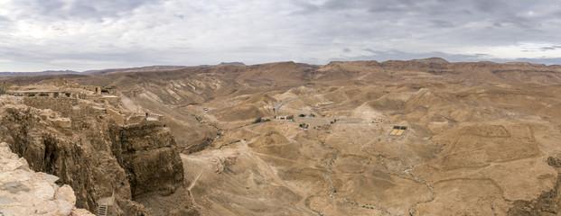 Israel rocky desert wide panorama