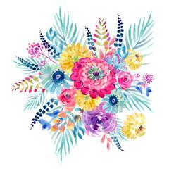 Watercolor Flowers Spring