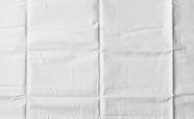 White Wrinkled Fabric Texture