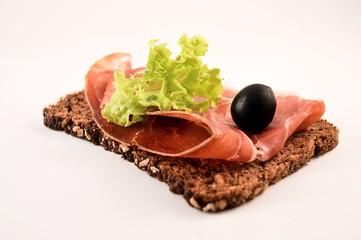 Typical Spanish 'Jamon Serrano' snack