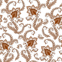 Henna Mehendi  Doodles Seamless Pattern