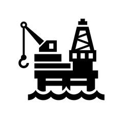 Oil Platform Icon on White Background. Vector