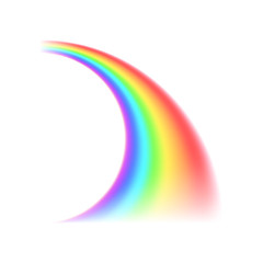 Rainbow curved line icon,realistic style