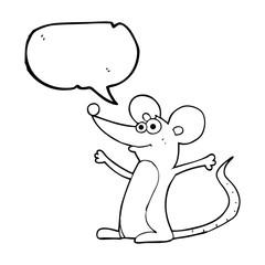 speech bubble cartoon mouse