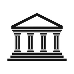 Obraz Temple of Concordia at Agrigento, Italy icon - fototapety do salonu