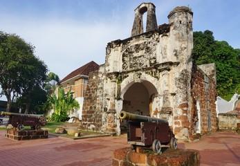 Ruins of the Kota A Famosa Portuguese Fortress in Malacca