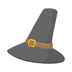 Gorgeous pilgrim hat cartoon icon