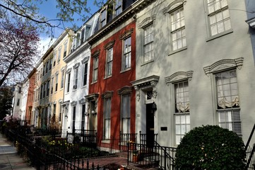 Canvas Print - Washington, DC:  Elegant 18-19th century row houses in the Capitol Hill East historic district