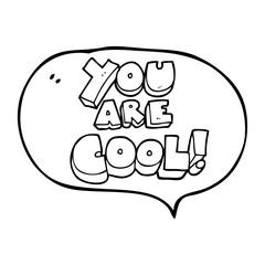 you are speech bubble cartoon cool symbol