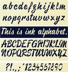 Ink style vector alphabet