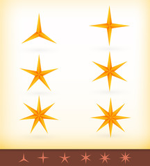 Collection of shiny vector golden stars