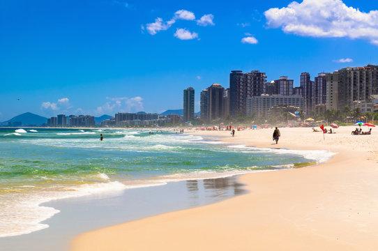 Beach in Barra da Tijuca, Rio de Janeiro. Brazil