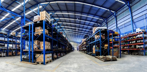 Industrials warehouse for distribution and storage Wall mural