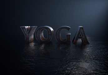 Yoga, 3D Typography