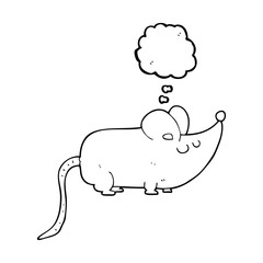 cute thought bubble cartoon mouse