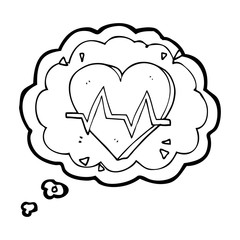 thought bubble cartoon heart rate
